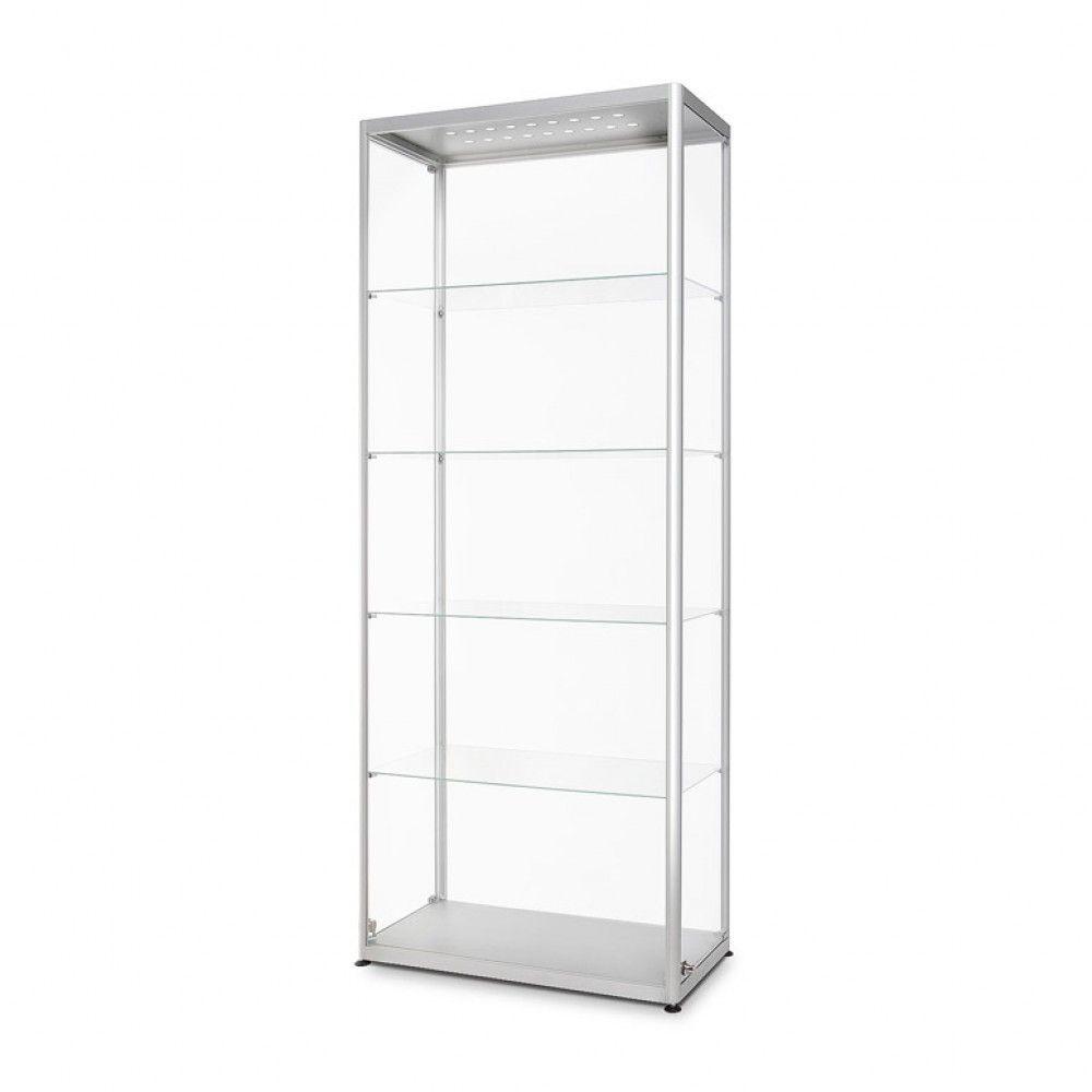 Prosklená osvětlená vitrína 800x2000x400 mm, boční otevírání A-Z Reklama CZ