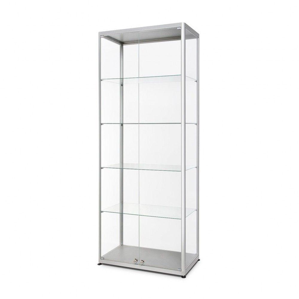 Prosklená vitrína 800x2000x400 mm, přední otevírání