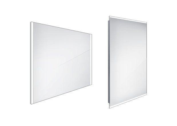 Koupelnové podsvícené LED zrcadlo 800x700 - ZP 11003