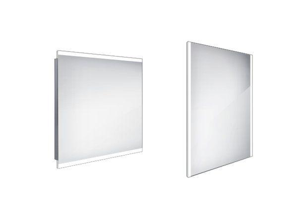 Koupelnové podsvícené LED zrcadlo 800x700 - ZP 12003