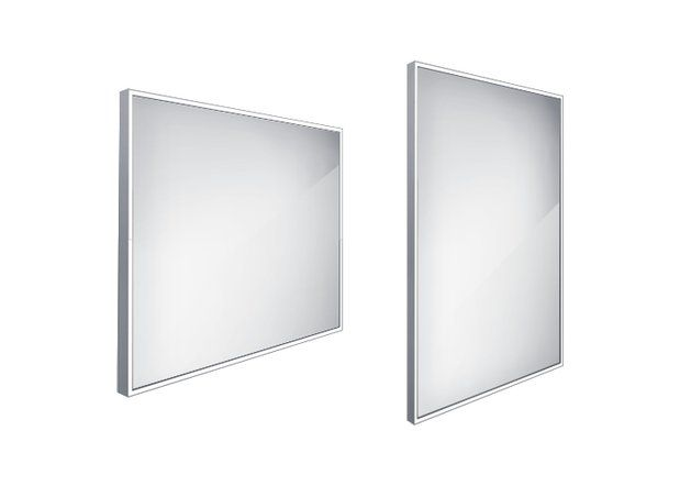 Koupelnové podsvícené LED zrcadlo 800x700 - ZP 13003