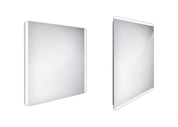 Koupelnové podsvícené LED zrcadlo 800x700 - ZP 17003