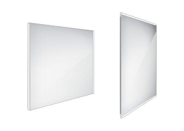 Koupelnové podsvícené LED zrcadlo 800x700 - ZP 9003