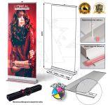 Přenosný Roll Up Banner Design 120x207 s tiskem A-Z Reklama CZ