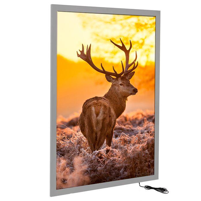 Tenký světelný rám Magneco Ledbox A2 - Stříbrný