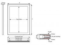 Tenký světelný rám Magneco Ledbox Double A1 - Stříbrný A-Z Reklama CZ