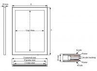Tenký světelný rám Magneco Ledbox Double A4 - Stříbrný A-Z Reklama CZ