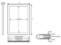 Tenký světelný rám Magneco Ledbox Double B2 - Černý A-Z Reklama CZ