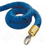 Modré lano koncovky mosaz 1000mm