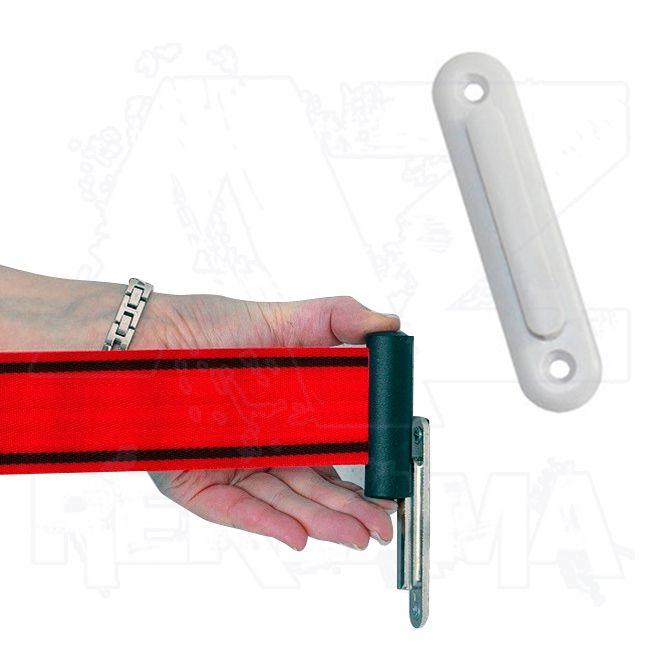 Nástěnný plastový klip na uchycení pásu - světle šedý