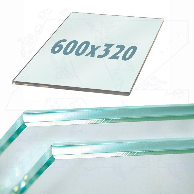 Police z tvrzeného skla do lišt Ripiano 600x320mm
