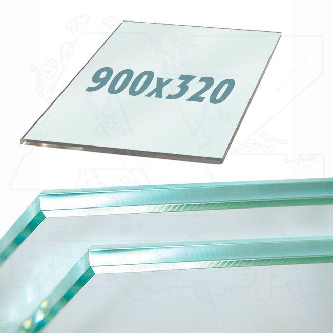 Police z tvrzeného skla do lišt Ripiano 900x320mm