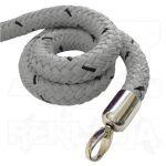 Šedé lano koncovky chrom 1500mm