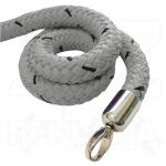 Šedé lano koncovky chrom 2000mm