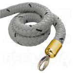 Šedé lano koncovky mosaz 1500mm
