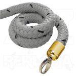 Šedé lano koncovky mosaz 2000mm