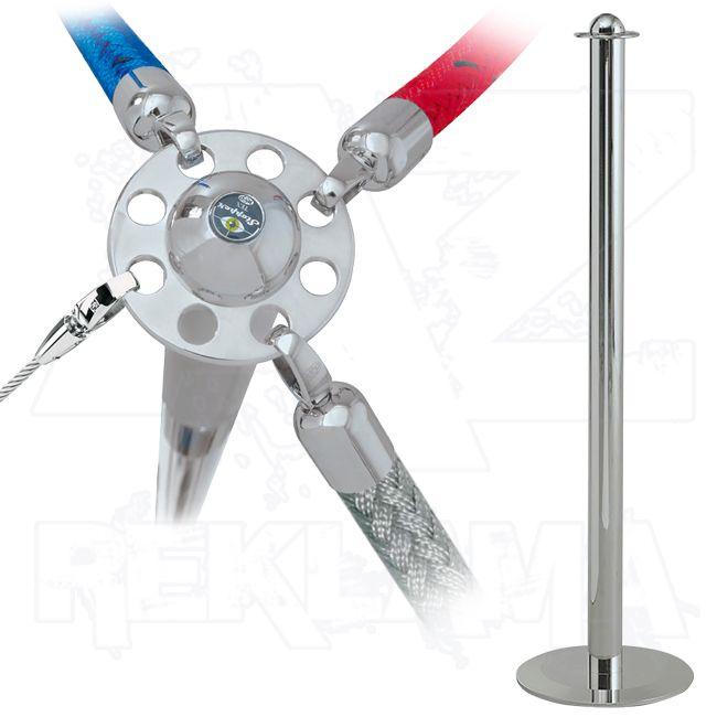 Vymezovací lanový sloupek Stopper Tex - chromový