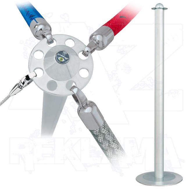 Vymezovací lanový sloupek Stopper Tex - hliníkový