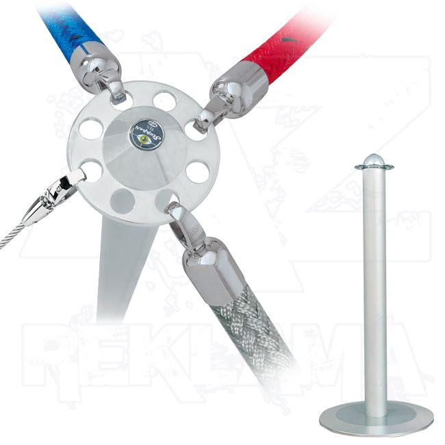 Vymezovací lanový sloupek Stopper Tex Mini - hliníkový