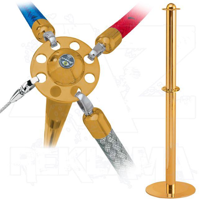 Vymezovací lanový sloupek Stopper Tex - mosazný