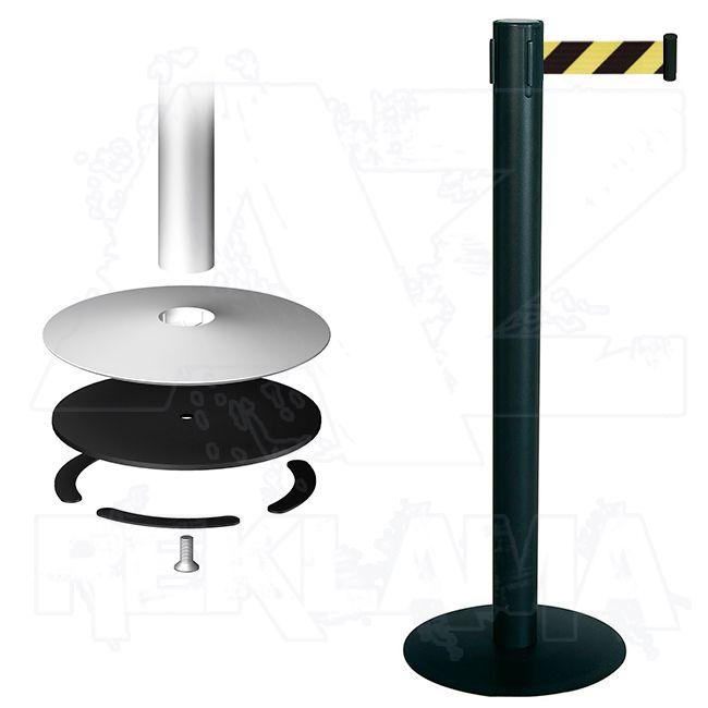 Vymezovací sloupek - set Stopper Eco - černý