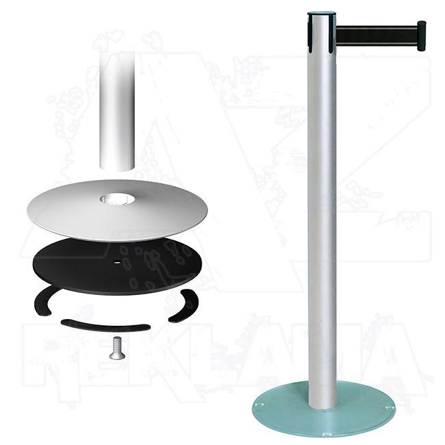 Vymezovací sloupek - set Stopper Eco - hliník a sklo