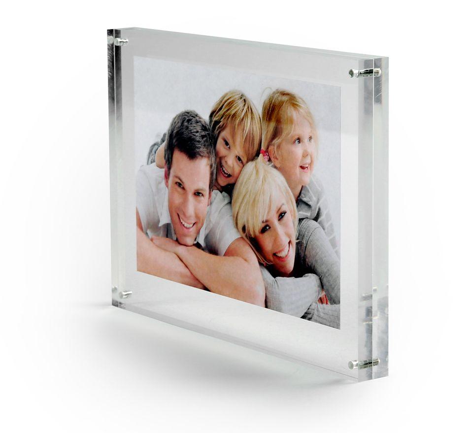 Elegantní akrylový průhledný fotorámeček 10x15