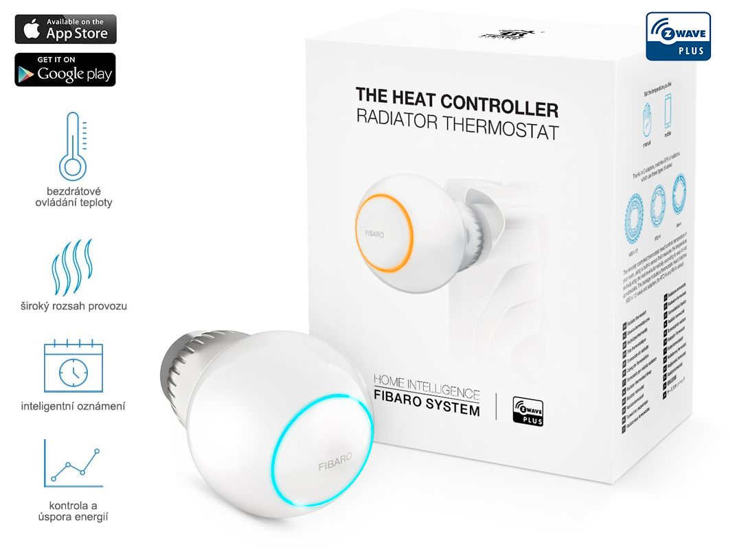 Fibaro Radiatorová hlavice, Z-Wave Plus