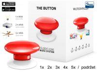Fibaro Bezdrátové tlačítko, červené