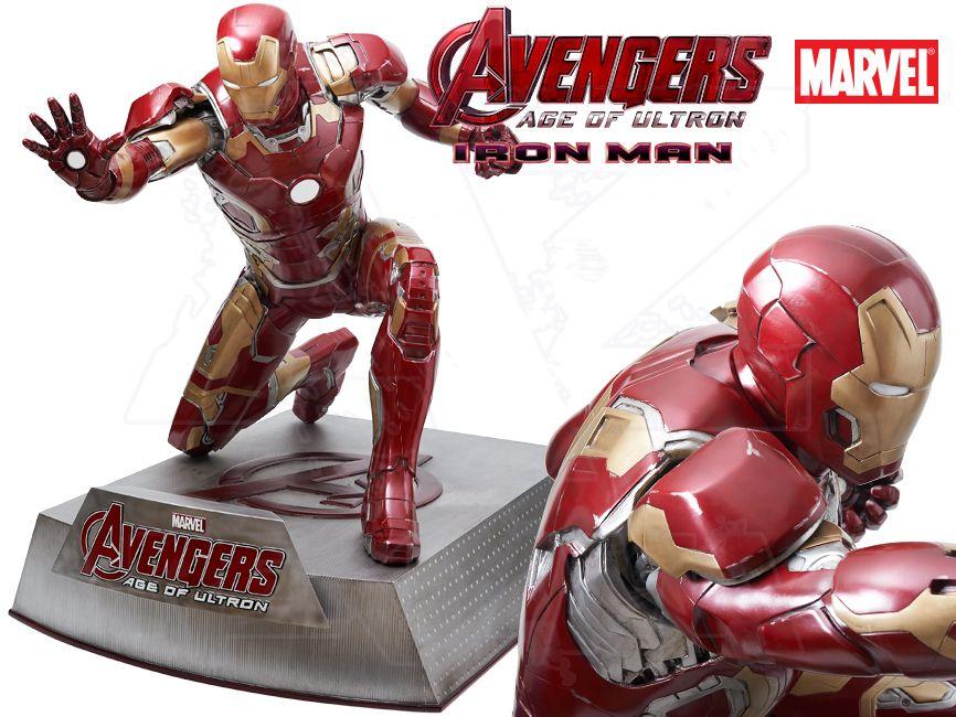 Filmová Figura v životní velikosti - IRON MAN klečící Avengers 2 Age of Ultron
