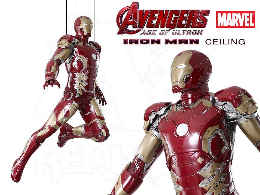 Filmová Figura v životní velikosti - IRON MAN letící na zavěšení - Avengers 2 Age of Ultron