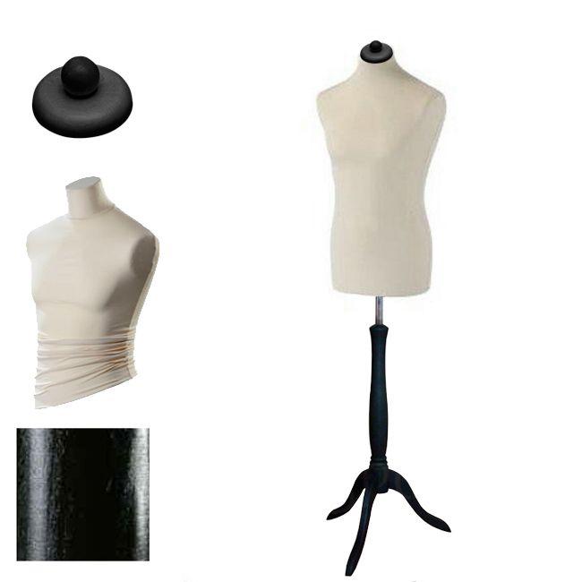 Pánská krejčovská panna - krémový potah, černý stojan trojnožka