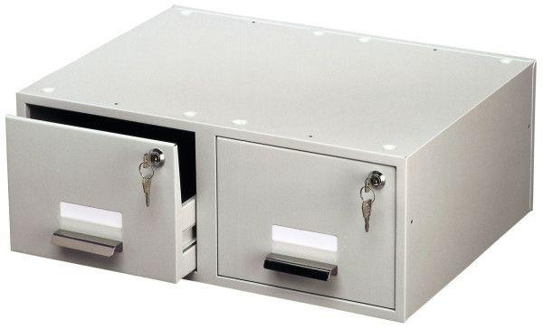 DURABLE 335410 - Uzamykatelný kartotékový box DUO pro karty A5