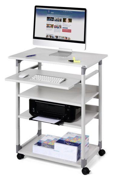 DURABLE 372010 - Pojízdný stolek pro PC TROLLEY 75 VH - Šedý