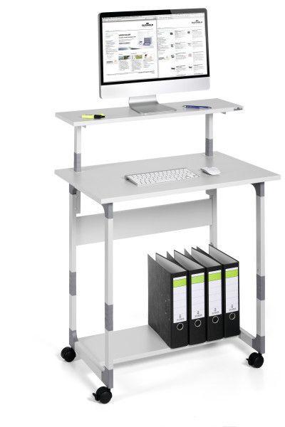 DURABLE 371810 - Pojízdný stolek pro PC TROLLEY 80 VH - Šedý