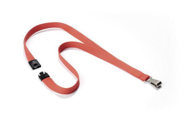 Textilní páska 15 mm s bezp. pojistkou - Korálová - 10 ks
