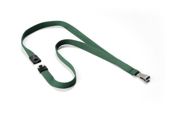 Textilní páska 15 mm s bezp. pojistkou - Tmavě Zelená - 10 ks