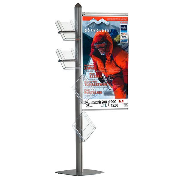 Stojan Freestand - Držák banneru 70 cm a 4 zásobníky A4 A-Z Reklama CZ