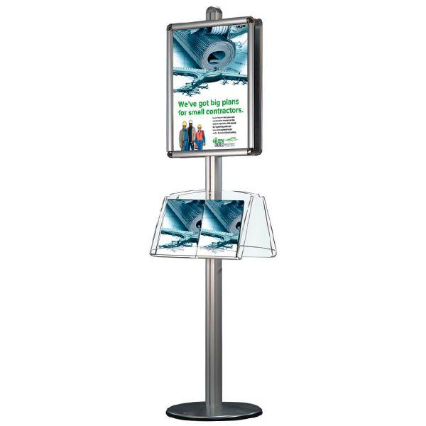 Oboustranný Stojan - Rám A1 a akrylové kapsy na letáky 4xA4 A-Z Reklama CZ