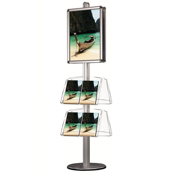 Oboustranný Stojan - Rám A1 a akrylové kapsy na letáky 8xA4 A-Z Reklama CZ