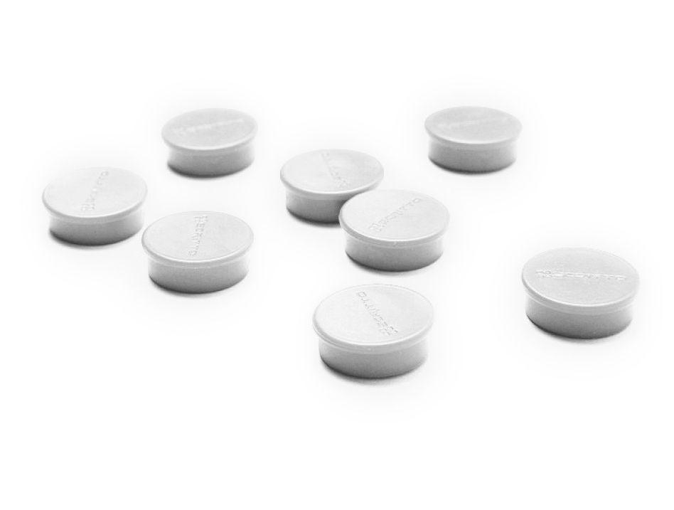 Sada 8ks magnetů na nástěnky a vitríny SCRITTO průměr 20mm Bílé barvy A-Z Reklama CZ
