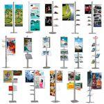 Stojan Freestand - 8x akrylová kapsa na letáky 16xA4 A-Z Reklama CZ