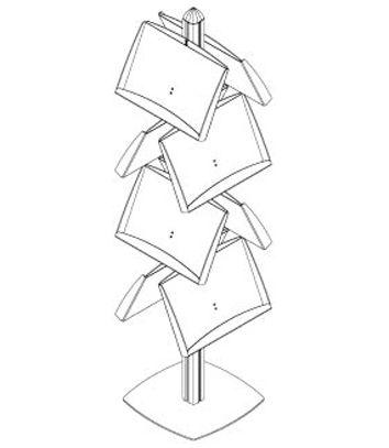 Stojan Freestand - 8x plechová dvojkapsa na 16xA4 A-Z Reklama CZ