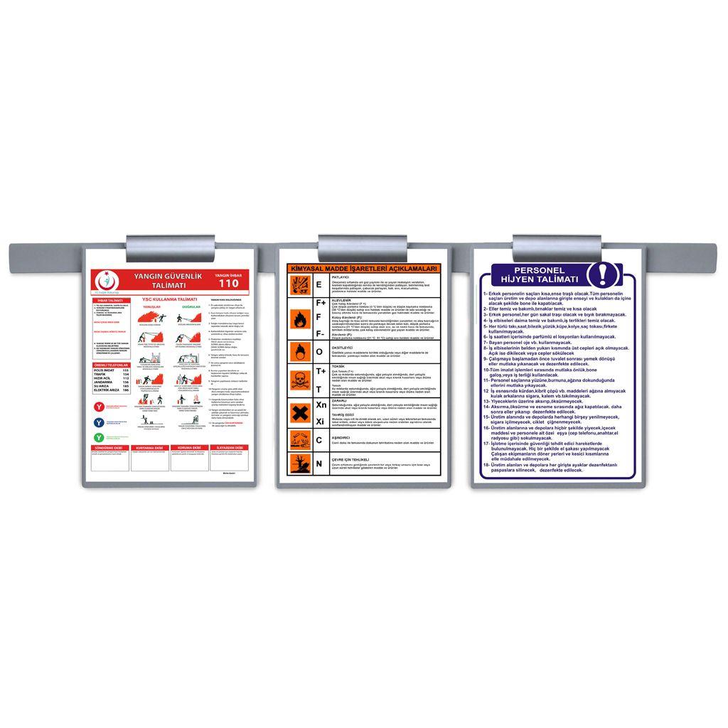 Prezentační Memo Clip Board 3x A4 s nástěnnou lištou