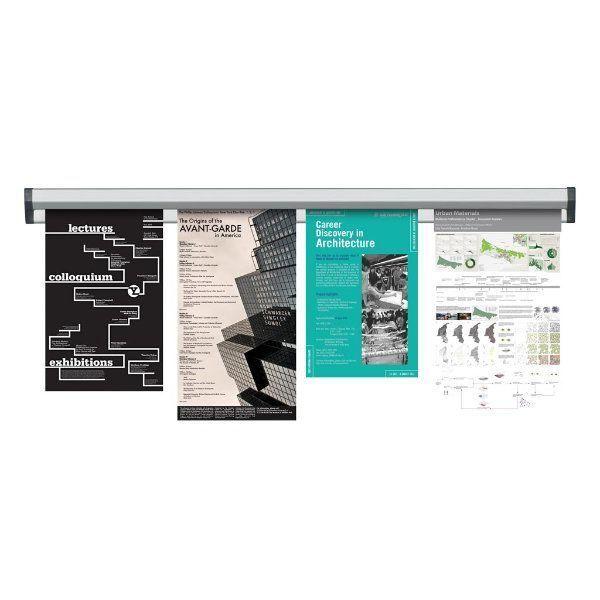 Prezentační Memo lišta na stěnu Fast Note 1000 mm