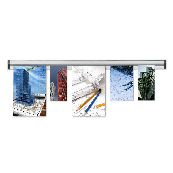 Prezentační Memo lišta na stěnu Fast Note 1500 mm