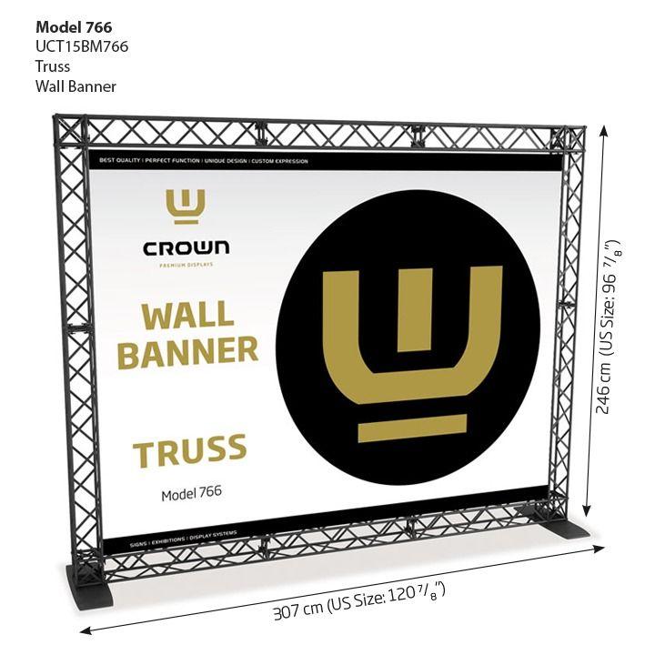 Crown truss Model 766 - stěna 3 m - Černá sestava