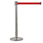 Chrom bariéra - 2,9 m Červený pásek