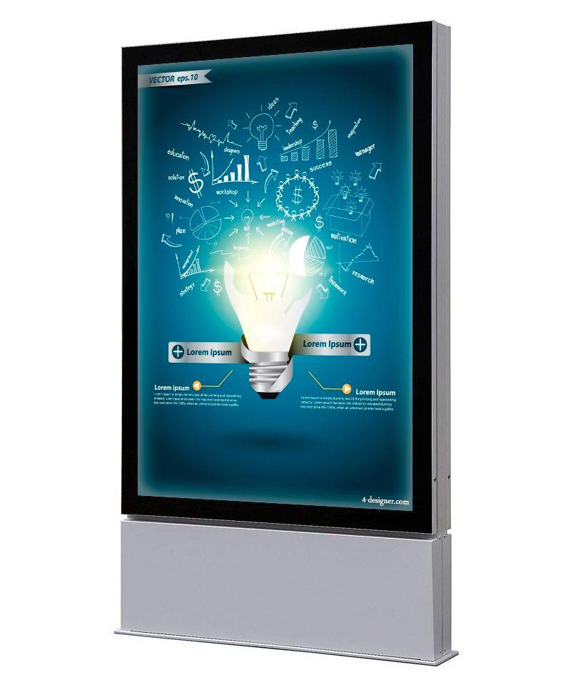 Venkovní obustranný LED totem na plakát 1185x1750mm A-Z Reklama CZ