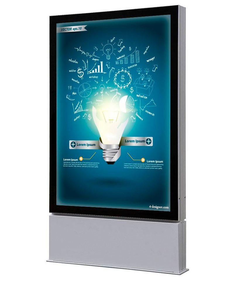 Venkovní obustranný LED totem na plakát 1200x1800mm A-Z Reklama CZ